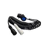 Adaptérový spirálový kabel 15pólový na 2 x 7pólový