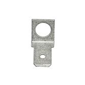Ploché zásuvné kontakty s otvorem mosaz pocínovaná, M5, 6,3mm