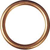 Měděný výplňový těsnicí kroužek DIN 7603 C