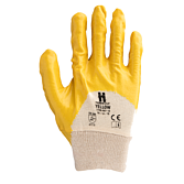 Nitrilové ochranné rukavice žluté