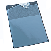 Desky na zakázkové dokumenty se zatmaveným polem objednavatele